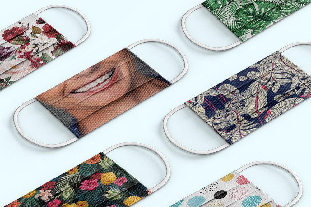 ustom printed face masks